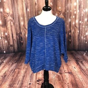 *601 Daisy Fuentes High-Low Scoopneck Sweater